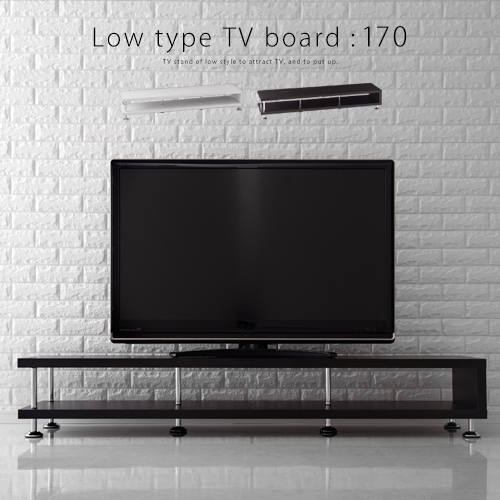 テレビボード テレビ台 70インチ まで対応 ローボード 木製 TV台 AV収納ボード AVボード AVラック TVラック テレビラック TVボード 60インチ 52インチ にも白ブラウン ブラック黒 おしゃれ 170タイプ
