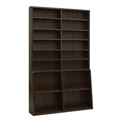 本棚 AV収納 CDラック DVD コミック ビデオブラウン 薄型 ラック 子供部屋 おしゃれ