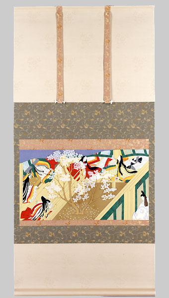 源氏物語絵巻写「竹河之弐」(普及版・復刻模写版画)