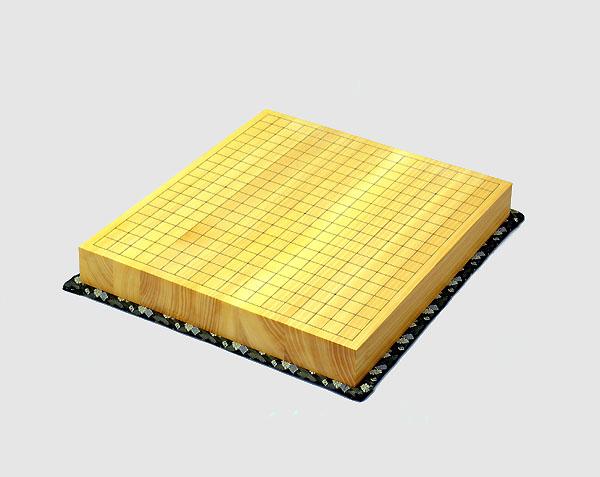 榧(カヤ)二寸碁盤 柾目(マサメ) 特上(畳マット・お手入れ手拭い・2wayトートバッグ付)