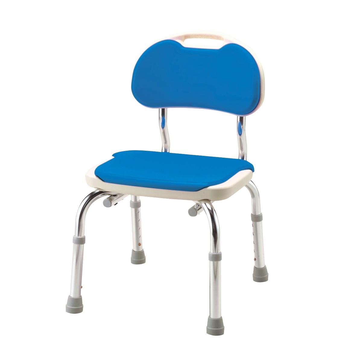 【アロン化成】背付シャワーベンチ CPE-N ブルー 536300シャワーチェア/入浴/浴室/風呂/椅子/介護用品/お年寄り/高齢者