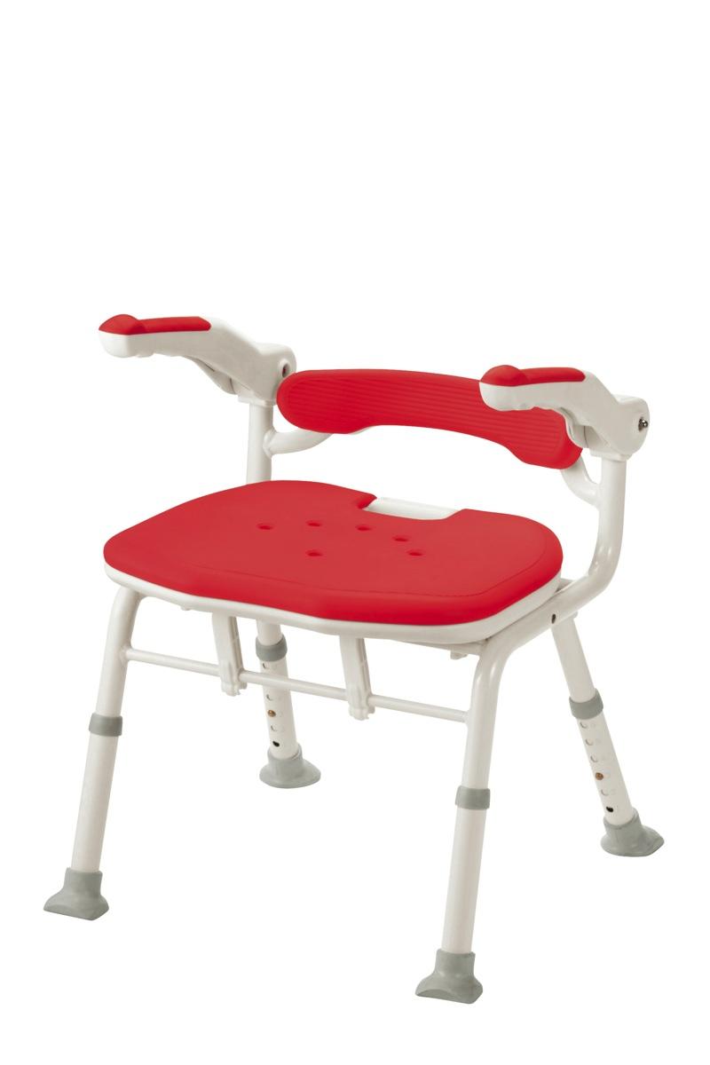 【アロン化成】折りたたみシャワーベンチISフィット(骨盤サポートタイプ)レッド 536115風呂/いす/シャワーチェア/入浴用品/介護用品/お年寄り/高齢者