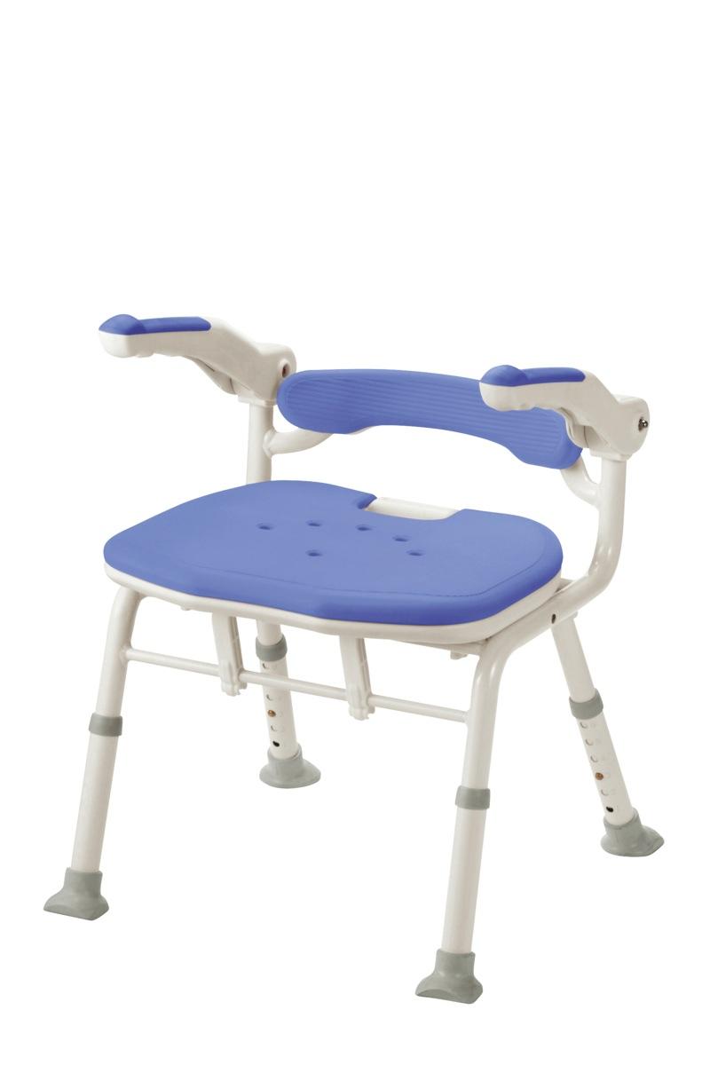 【アロン化成】折りたたみシャワーベンチISフィット(骨盤サポートタイプ)ブルー 536116/シャワーベンチ/シャワーチェア/入浴用品/介護用品/お年寄り/高齢者