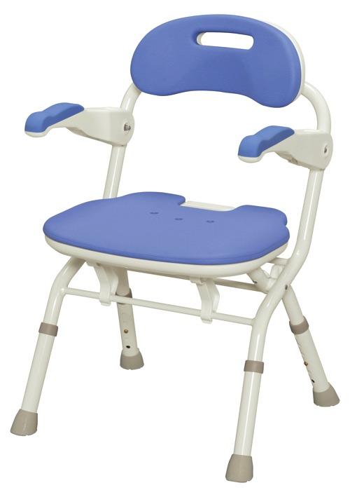 【アロン化成】折りたたみシャワーベンチFSフィット ブルー 536057風呂/いす/シャワーチェア/入浴用品/介護用品/お年寄り/高齢者