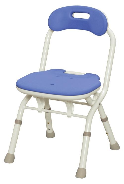 【アロン化成】折りたたみシャワーベンチ FC(背付タイプ)ブルー 536060風呂/いす/シャワーチェア/入浴用品/介護用品/お年寄り/高齢者