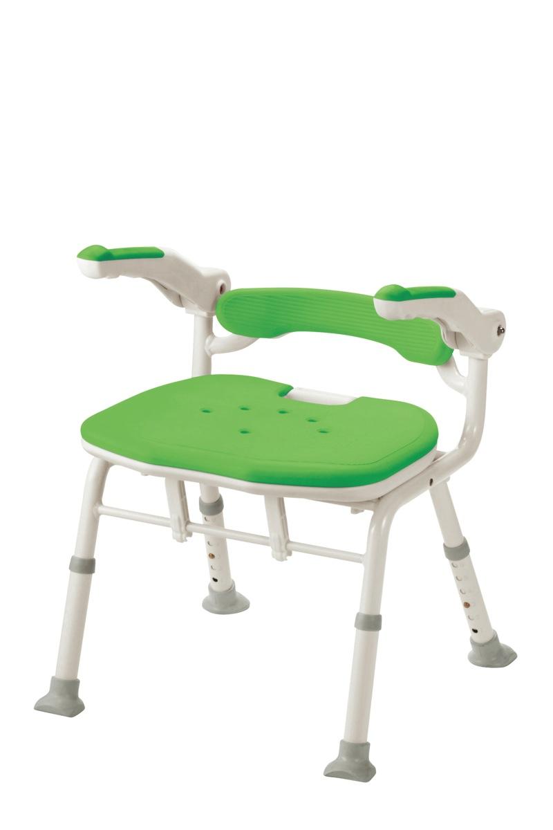 【アロン化成】折りたたみシャワーベンチISフィット(骨盤サポートタイプ)グリーン 536118<風呂/いす/シャワーチェア/入浴用品/介護用品/お年寄り/高齢者