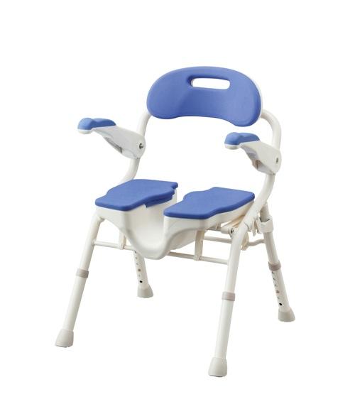 【アロン化成】折りたたみシャワーベンチ HPフィット ブルー 536071シャワーチェア/風呂/いす/入浴用品/介護用品/お年寄り/高齢者