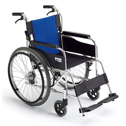 【ミキ】アルミ製スタンダード車いす BAL-1車椅子/自走/介助/折りたたみ/軽量/シンプル/コンパクト/介護用品/お年寄り/高齢者/ランキング1位