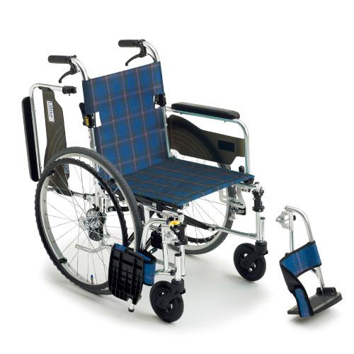 【ミキ】自走式車いす LS-43RD車椅子/自走/介助/軽量/介護用品/お年寄り/高齢者/