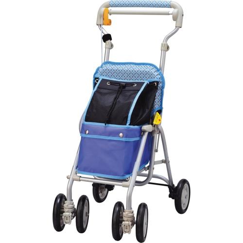 【象印ベビー】ライトミニGN(チェックブルー)シルバーカー/歩行車/押し車/介護用品/お年寄り/高齢者