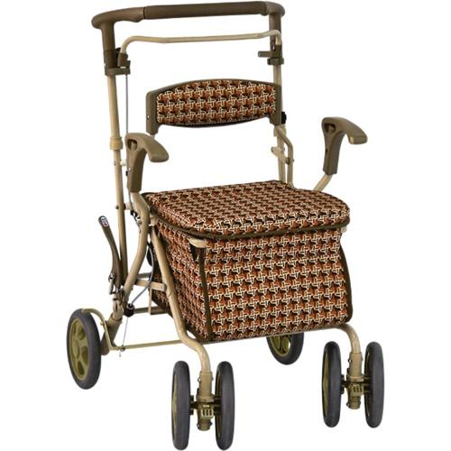 【島製作所】デュオST(ちどり格子BR)シルバーカー/歩行車/押し車/介護用品/お年寄り/高齢者