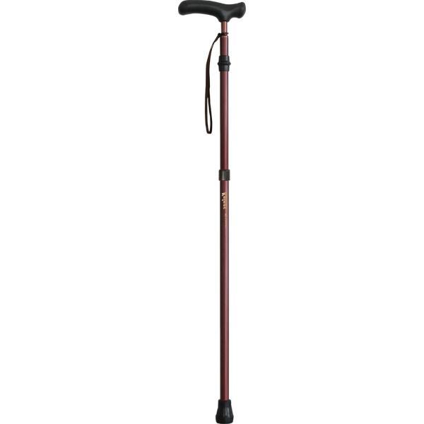 【シナノ】カイノス 自由自在杖(ブラウン)長さ調節/伸縮/ステッキ/介護用品/お年寄り/高齢者