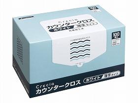 【日本製紙クレシア】クレシア カウンタークロス薄手タイプ ケース ホワイト