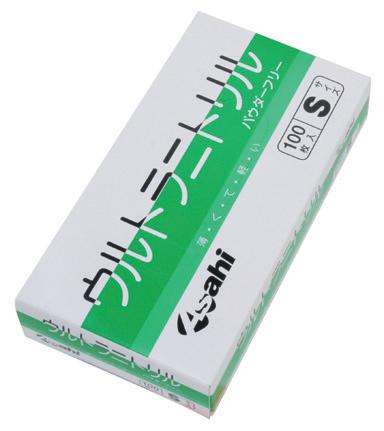 【旭創業】ウルトラニトリル手袋 パウダーフリー 1ケース(24箱)S使い捨て/粉無し/感染予防/介護/医療/お年寄り/高齢者