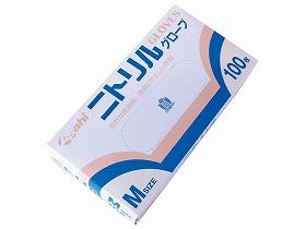 【旭創業】ニトリル薄手手袋(粉付)1ケース(20箱)M使い捨て/感染予防/介護/医療/お年寄り/高齢者