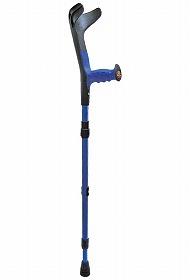 【プロト・ワン】OPOクラッチ(折り畳み)ブルー杖/ロフストランドクラッチ/骨折/折りたたみ/お年寄り/高齢者