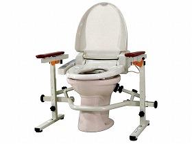 【ウェルファン】洋式トイレ手すり といれって 肘掛スライド式工事不要/洗浄便座/手摺/つっぱり/高齢者/お年寄り/介護