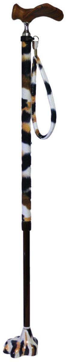 【アシストインターナショナル】猫の手ステッキ 三毛猫柄 左手用杖/ネコ/肉球/アニマル柄/かわいい/介護/お年寄り/高齢者