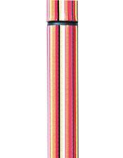 【オーブ・クリエーション】オーブ・ステッキ(4本折りたたみ調節式)ストライプ杖/オシャレ/派手/滑りにくい/介護用品/お年寄り/高齢者