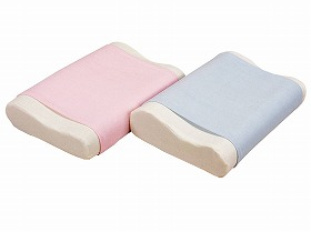 【ルナール】洗える体圧分散バランス枕 ブルー吸水/洗濯/低反発/お年寄り/高齢者