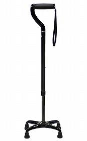 【島製作所】オールカーボン四点式 ミドルタイプ カーボン柄グレー多点杖/4点/軽量/安定/介護/お年寄り/高齢者