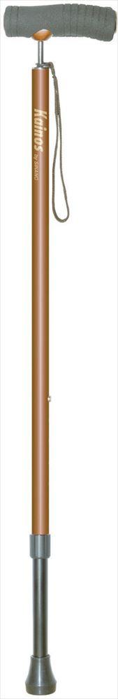 【シナノ】カイノス SOFT-GA ブラウン杖/ステッキ/軽量/おしゃれ/伸縮/やわらかい/福祉用具/介護用品/お年寄り/高齢者