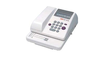 送料無料 チェックライター マックス 電子チェックライター 10桁印字 EC-510 チェックライター|小切手 大型領収書 紙送り 自動紙押さえ 手形 事務用品 オフィス用品 トップジャパン|