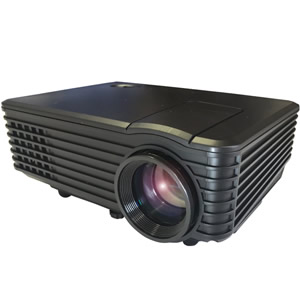 《500円クーポン配布》 LED コンパクト プロジェクター 小型 40型~100型 保証付 ホームシアター 投影機 プロジェクション HDMI VGA AV AUDIO USB 接続可能 送料無料