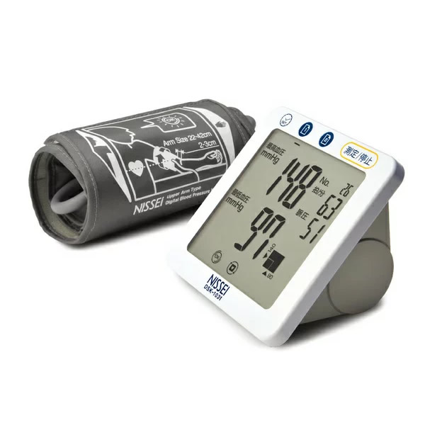 NISSEI 上腕式デジタル血圧計 DSK-1031 シンプル 簡単 操作 測定 おすすめ 血圧 脈拍 上腕式 デジタル ワンプッシュ測定 タッチセンサー