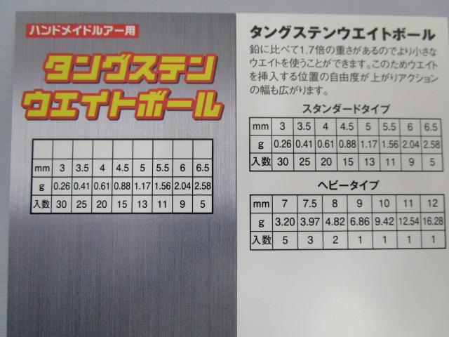 ハンドメイドルアー用 激安 日本最大級の品揃え タングステンウエイトボール