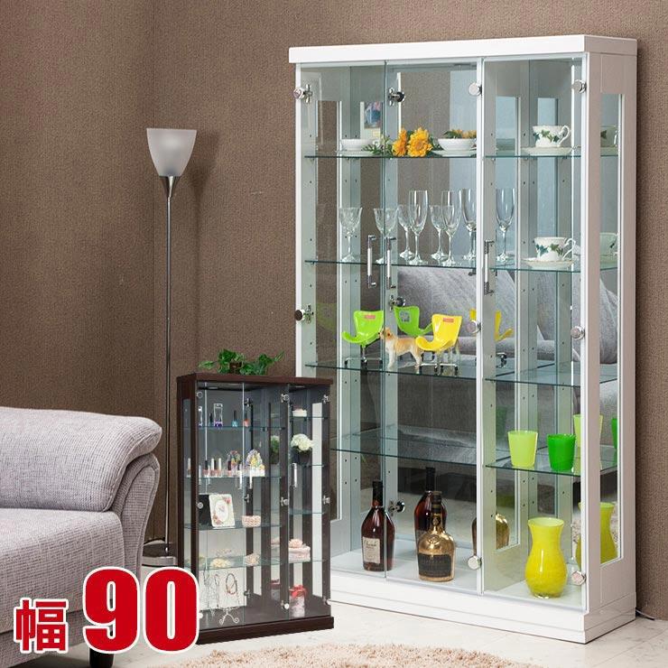 ★ 50%OFF ★コレクションラック 90 ハイタイプ 幅90cm ガラスケース フォース コレクションケース 棚 LED コレクションボード 安い ガラス 完成品 輸入品 送料無料