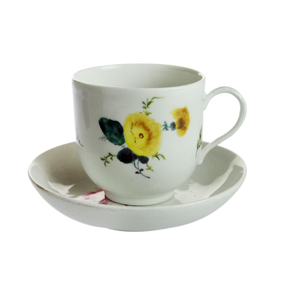 アンティークマイセン (Meissen)花柄 カップ&ソーサー 1760年代 No.27