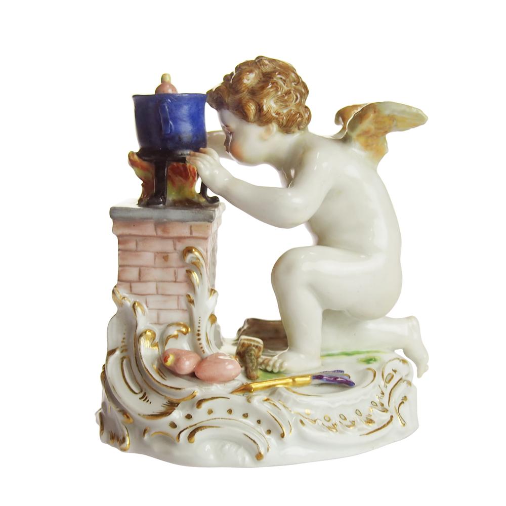 アンティークマイセン (Meissen)ハートを造る天使1800年頃