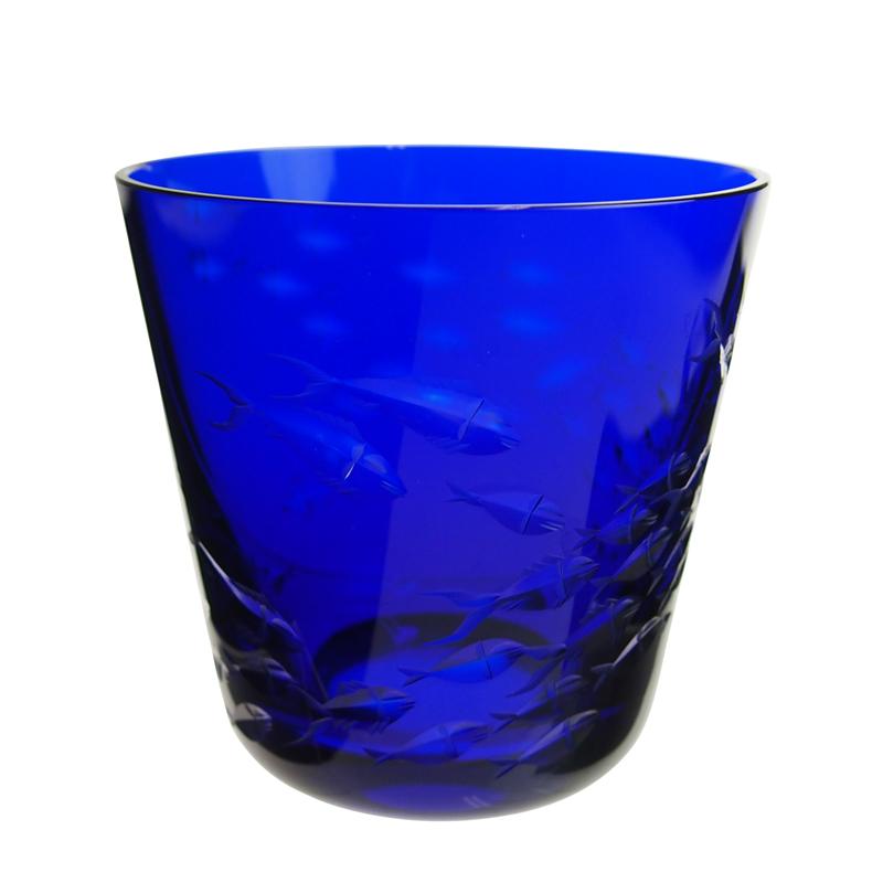 ロターグラス (Rotter Glass) シーライフ Fischschwarm タンブラー[M] ブルー