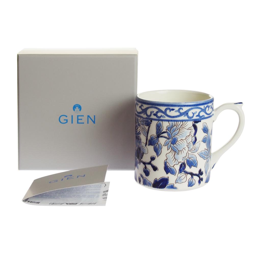 ジアン (Gien) ピボアン Pivoine ブルー マグカップ