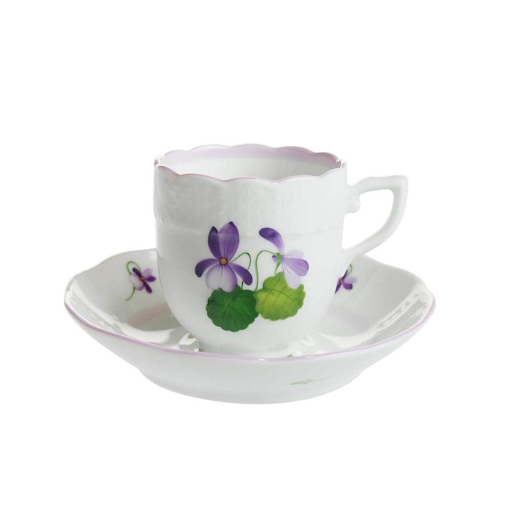 ヘレンド (HEREND) バイオレット VIOLETL コーヒーカップ&ソーサー 00709-0-00