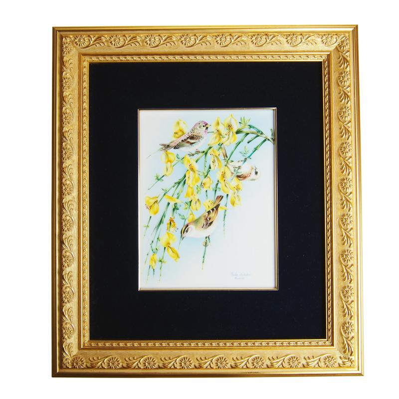 ヘレンド (HEREND) 額装陶画 08112 BIRDS-2 20cm×15cm
