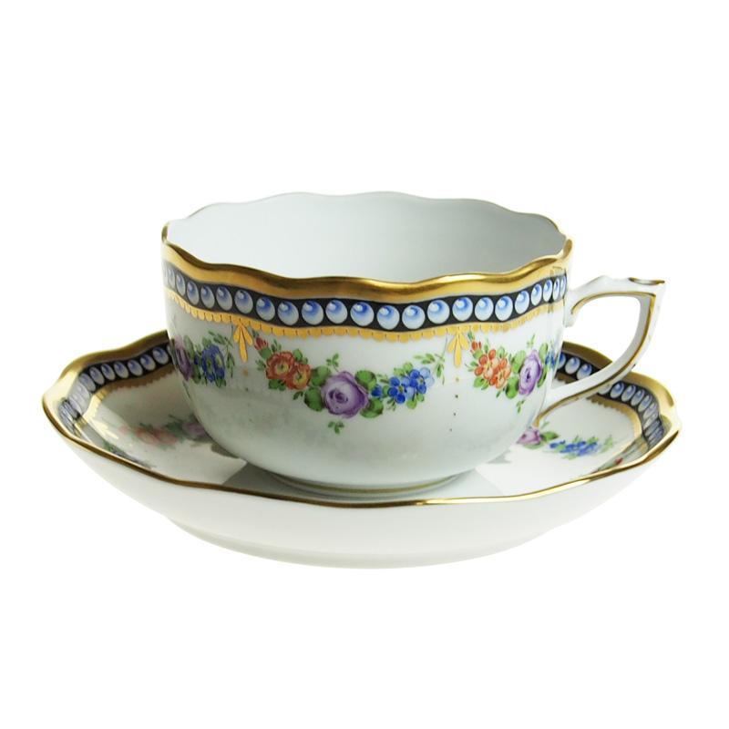 ヘレンド (HEREND) GPN 真珠の首飾り ティーカップ&ソーサー 20724【あす楽対応】