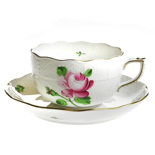 【送料無料祭】ヘレンド (HEREND) RB 薔薇と蕾 ティーカップ&ソーサー 724【あす楽対応】