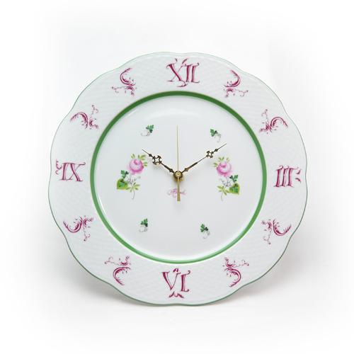 ヘレンド (HEREND) VRH ウィーンのバラ ウォールクロック 壁掛け時計 28.5cm 00527【あす楽対応】