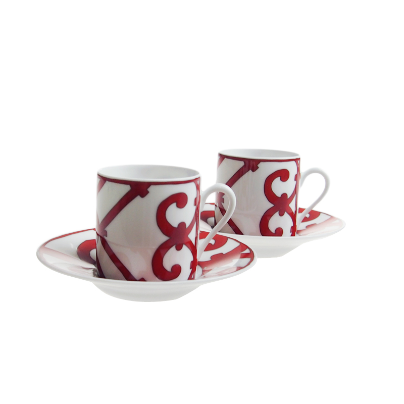 【Sale◆14th】エルメス (HERMES) ガダルキヴィール コーヒーカップ&ソーサーペア 100ml 11017P
