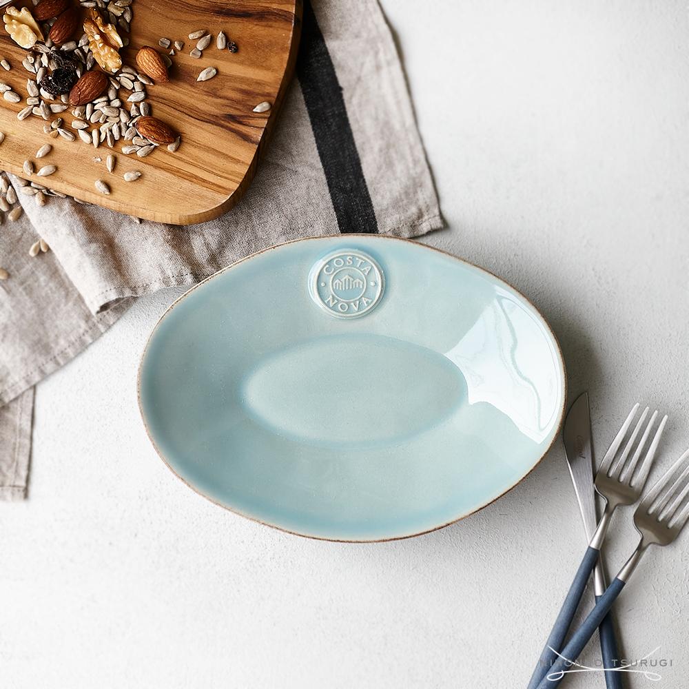 コスタノバ ポルトガル 食器 楕円皿 COSTA 発売モデル ☆最安値に挑戦 ターコイズ オーバルプレート ノバ 20cm NOVA