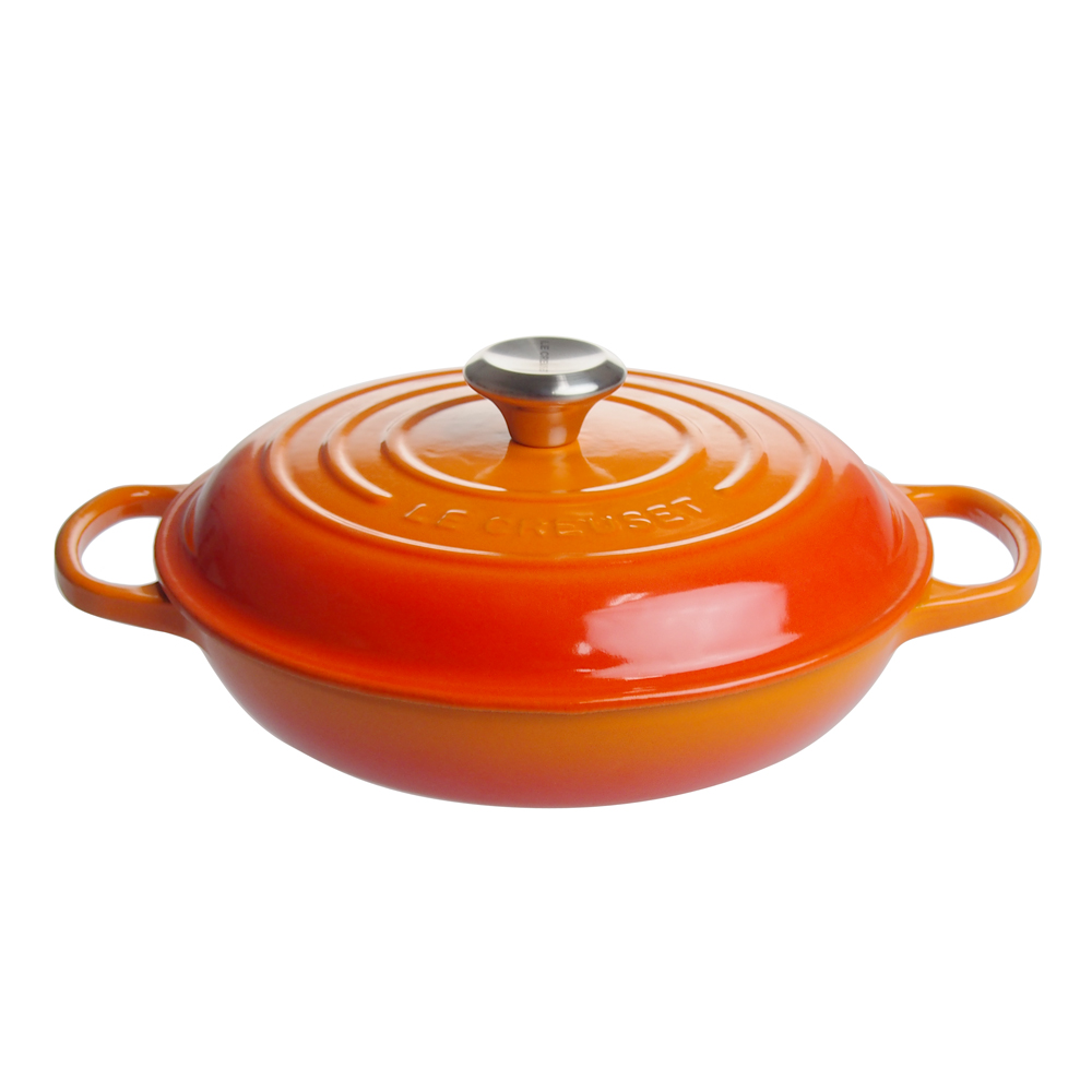 ル・クルーゼ (Le Creuset) ビュッフェ・キャセロール 26cmオレンジ