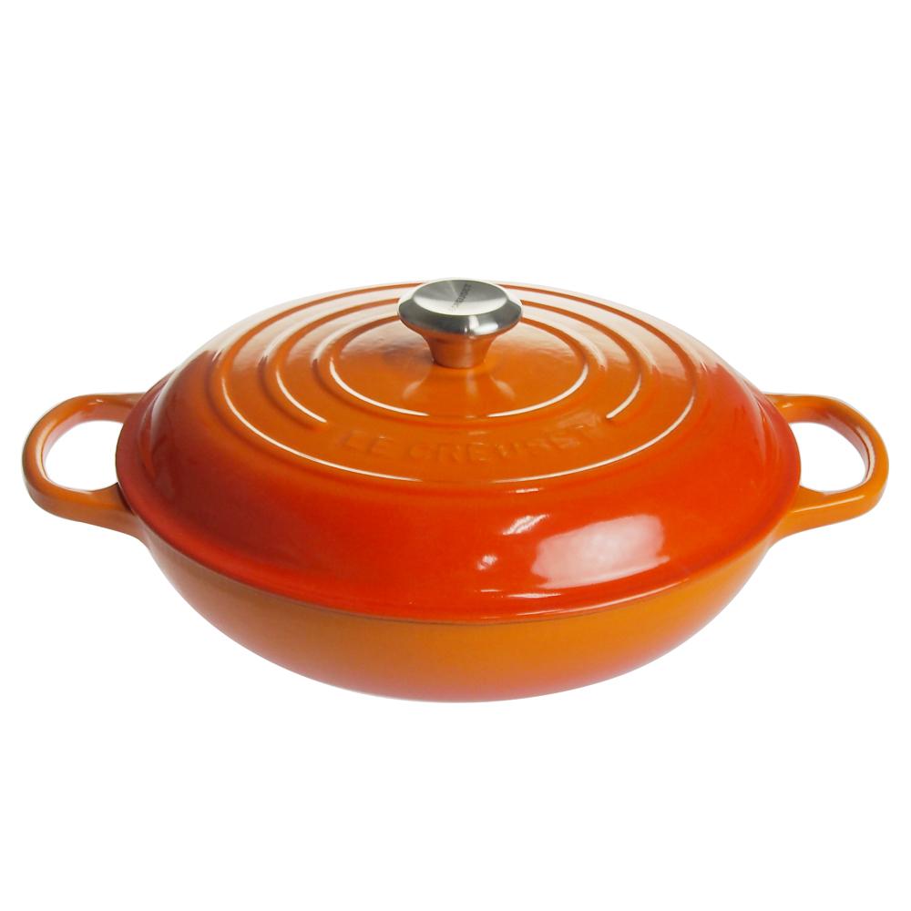 ル・クルーゼ (Le Creuset) ビュッフェ・キャセロール 30cm オレンジ