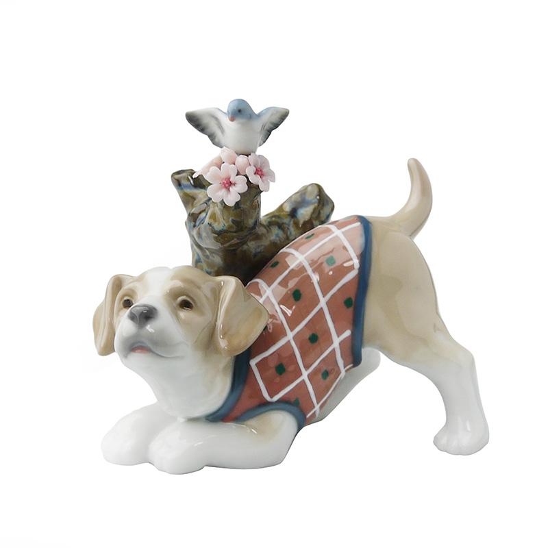 リヤドロ (LLADRO) 人形 桜の咲くころ 仔犬 8381