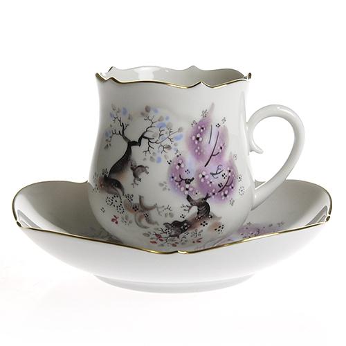 マイセン (Meissen) アーモンドの木 コーヒーカップ&ソーサー