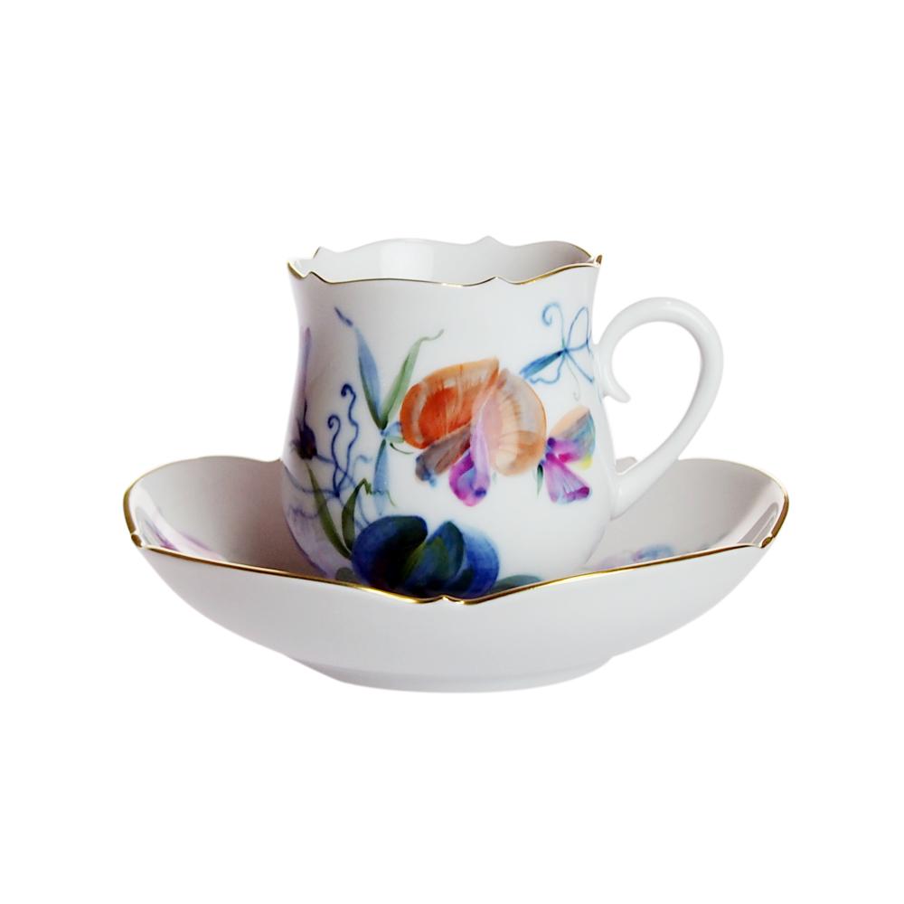 マイセン (Meissen) 多彩花 コーヒーカップ&ソーサー 611010/23582