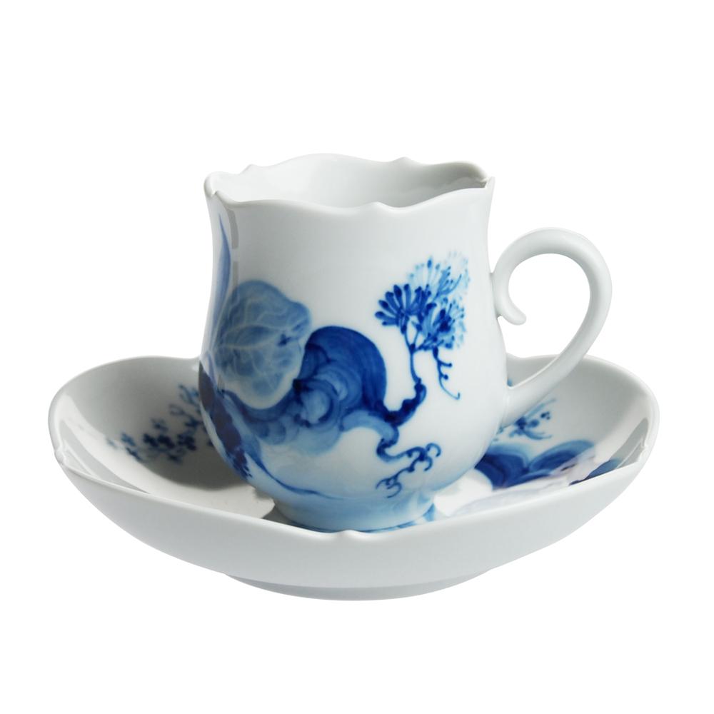 マイセン (Meissen) ブルーオーキッド コーヒーカップ&ソーサー 23582