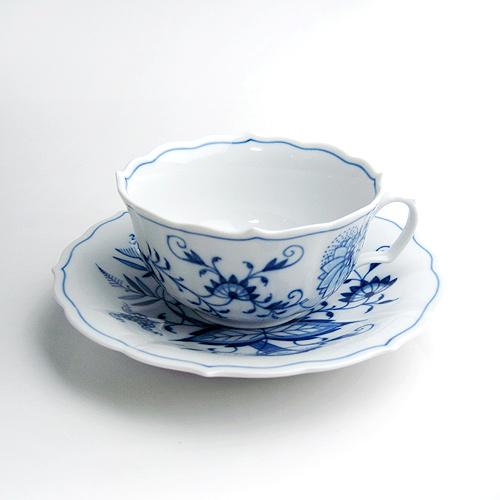 マイセン (Meissen) ブルーオニオン ティー カップ&ソーサー 200ml 00633