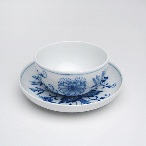 マイセン (Meissen) ブルーオニオン ソーサー付湯呑 24633